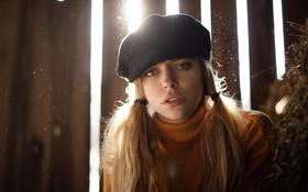 Картинка девушка, лицо, шляпа, косы, Marta