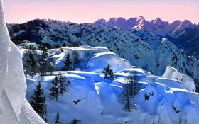 Обои зима, снег, горы, Италия, Ломбардия, Моджо