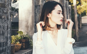 Картинка девушка, блузка, азиатка