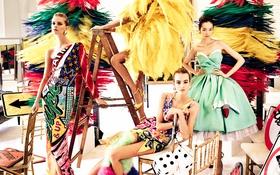 Обои модели, Spring, Summer, Joan Smalls, 2016, Maartje Verhoef, Fei Fei Sun