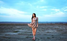 Обои девушка, модель, Виктория, платье, фотограф, ножки, model