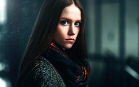 Картинка взгляд, портрет, веснушки, Настя, Макс Кузин