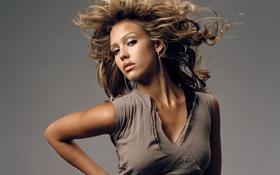 Картинка девушка, волосы, звезда, красота, актриса, jessica alba