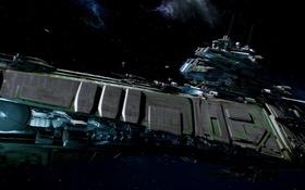 Обои космос, полет, корабль, Star Citizen, RSI Bengal