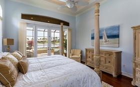 Обои дизайн, стиль, кровать, картина, подушки, окно, спальня