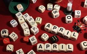 Обои игра, кости, April-April