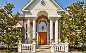 Обои дом, колонны, особняк, вход