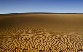 Обои песок, пустыня, след