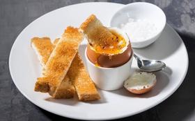 Обои яйцо, завтрак, тост