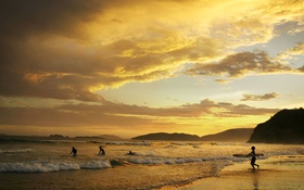 Обои море, волны, горы, серфинг, Бразилия, Героба Бич, Бузиос