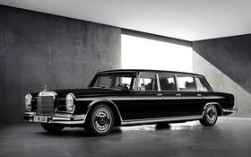 Обои W100, 600, 1963, лимузин, мерседес, Mercedes-Benz