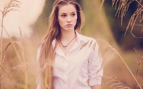 Обои рубашка, портрет, девушка