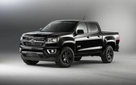 Картинка черный, Chevrolet, шевроле, колорадо, пикап, Colorado