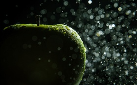 Обои капли, яблоко, зеленое, photographer, Hannes Hochsmann