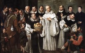 Обои картина, мифология, Alejandro de Loarte, Чудо Святого Бернарда