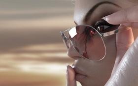 Картинка девушка, лицо, рендеринг, очки, губы, rebeca