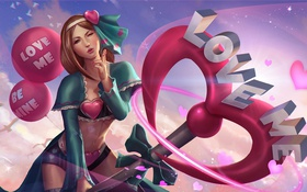 Картинка девушка, hon, Valentine's Day, Heroes of Newerth, Happy Valentine's Day, empath, Overly Attached