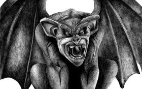 Картинка stone, creature, gargoyle