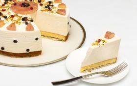 Обои суфле, декор, кусок, торт