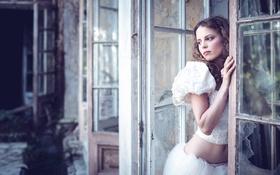 Картинка взгляд, животик, прелесть, кудри, Karina Bratkowska
