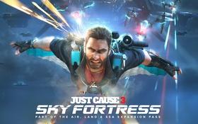 Обои Square Enix, Avalanche Studios, Rico Rodriguez, Sky Fortress, ust Cause 3