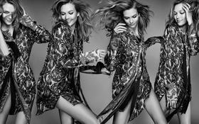 Картинка поза, модель, черно-белое, Karlie Kloss, Карли Клосс