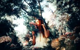 Картинка девушка, цветы, Gabriela, Ronny Garcia