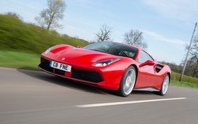Обои Ferrari, суперкар, феррари, GTB, 488