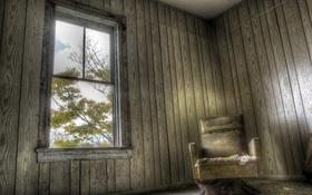 Обои комната, кресло, окно