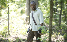 Обои The Walking Dead, Morgan, forest