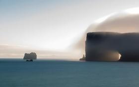 Картинка море, туман, скалы