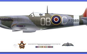Обои signs, medals, spitfire mk vb
