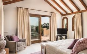 Картинка дизайн, стиль, кровать, кресло, подушки, окно, спальня