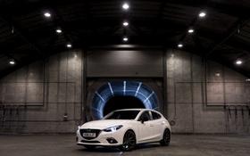 Обои белая, седан, Mazda 3, мазда, Sedan