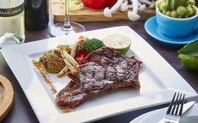 Картинка мясо, лайм, брокколи, спаржа, гриль