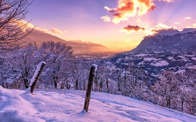 Обои красота, вид, горы, снег, Франция, небо, облака
