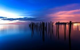 Обои море, небо, пейзаж, закат, природа