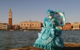 Обои город, маска, Carnevale di Venezia