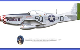 Картинка aircraft, illustrations, p 51d mustang