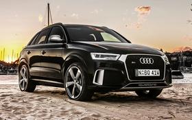 Обои Audi, ауди, черный, Black, кроссовер