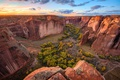 Картинка лес, небо, скалы, каньон