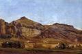 Картинка пейзаж, горы, картина, Карлос де Хаэс, Каньон Деспеньяперрос
