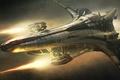 Картинка космос, полет, корабль, Star Citizen, Banu Merchantman