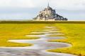 Картинка Mont Saint-Michel, Meander, cизигийный прилив