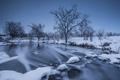 Картинка зима, снег, река