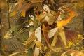 Картинка девушка, огонь, копье, Парень, стрелы