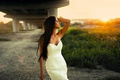 Картинка View, Hair, Dress, Darina, Sun, Summer, White