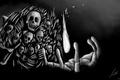 Картинка fire, skulls, bones, dark soul