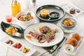 Картинка хлеб, суп, мясо, рис, овощи, десерт, соус