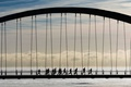 Картинка мост, люди, бег, Канада, Торонто, силуєт, Humber Bay